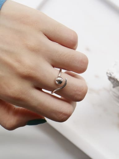925 Sterling Silver Ball Trend Bead Ring