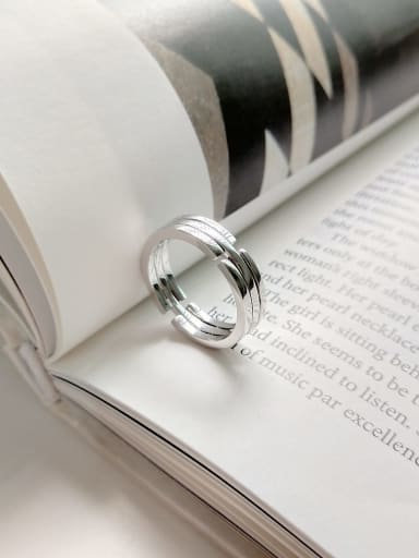 925 Sterling Silver Irregular Minimalist Stackable Ring