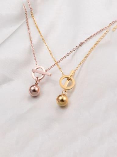 Titanium Smooth Bead Necklace