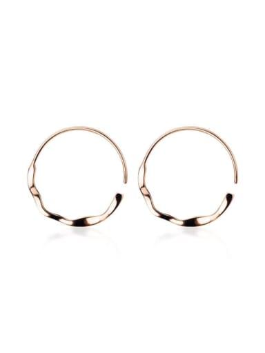 925 Sterling Silver Hollow Round Minimalist Hoop Earring