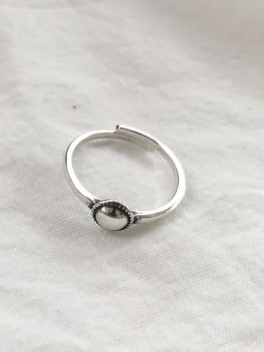 925 Sterling Silver Round Artisan Blank Ring