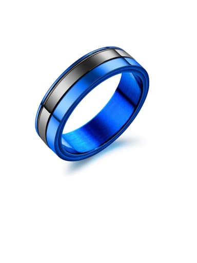 Stainless Fashion Simple Steel couple ring