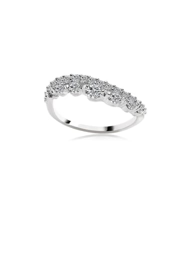 Copper Cubic Zirconia White Irregular Dainty Ring