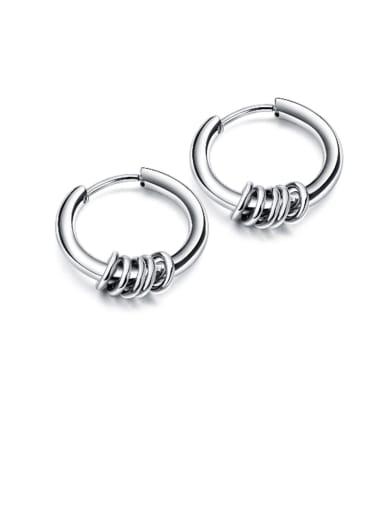 Titanium Geometric Minimalist Hoop Earring