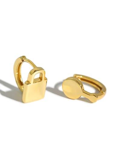 925 Sterling Silver Key Vintage Stud Earring