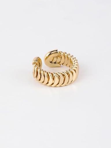 B china Brass Smooth  Irregular Minimalist Free Size Ring