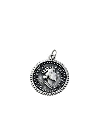 Vintage Sterling Silver With Vintage Round Pendant Diy Accessories