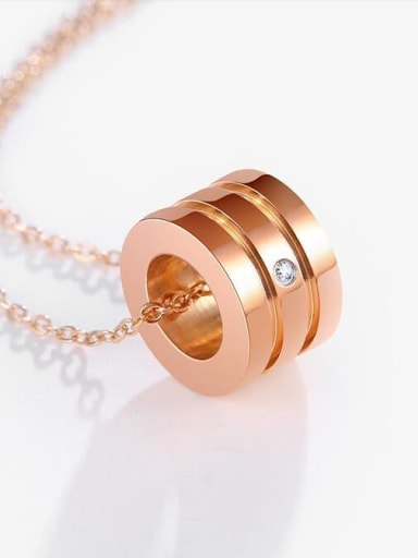Titanium Rhinestone Heart Minimalist Pendant Necklace