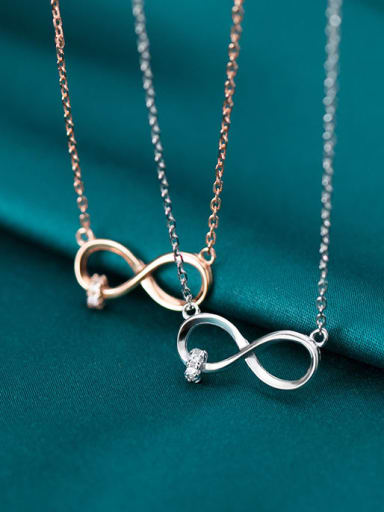 925 Sterling Silver Number Minimalist Necklace