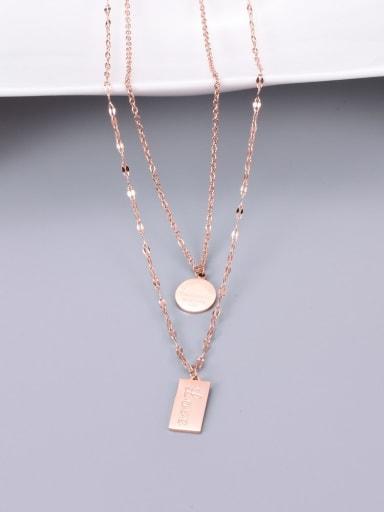 Titanium Rectangle Minimalist Multi Strand Necklace