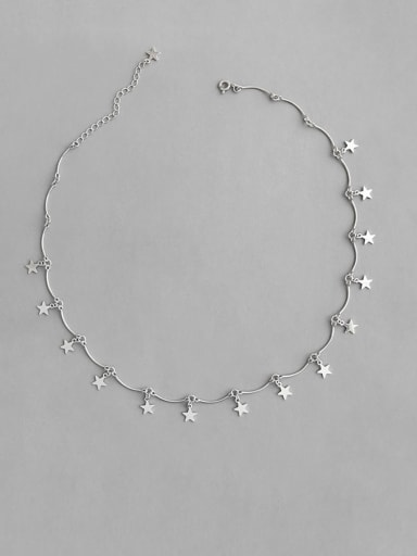 S925 Sterling Silver personalized pentagonal Star Pendant neck chain