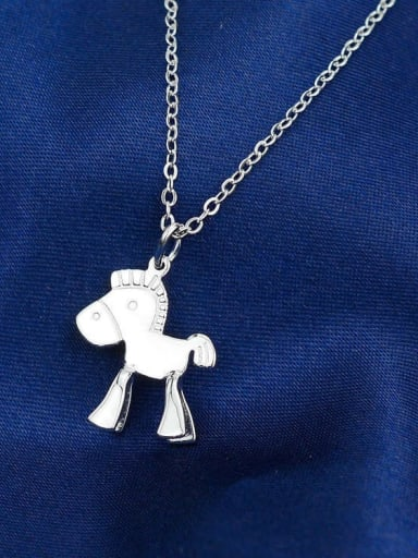 925 Sterling Silver Horse Cute Necklace