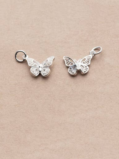 925 Sterling Silver With Vintage Butterfly Pendant Diy Accessories