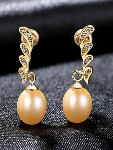 Powder 4H04 925 Sterling Silver Freshwater Pearl Irregular Dainty Drop Earring
