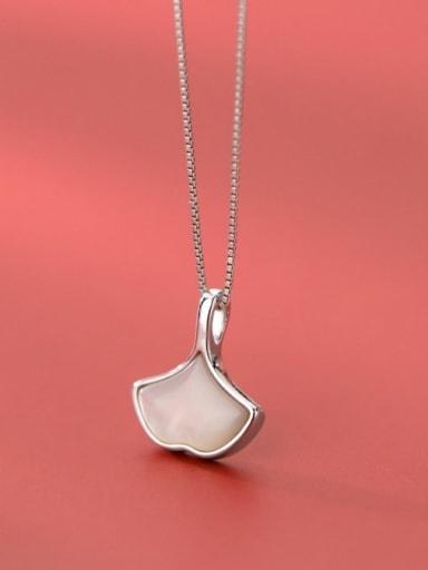 925 Sterling Silver Cats Eye Minimalist Geometric Pendant