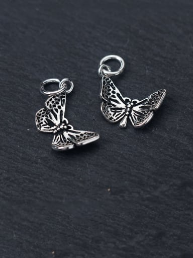 925 Sterling Silver With Vintage small butterfly pendant  Diy Accessories