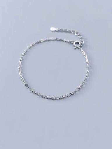 925 Sterling Silver Vintage Geometric   Anklet