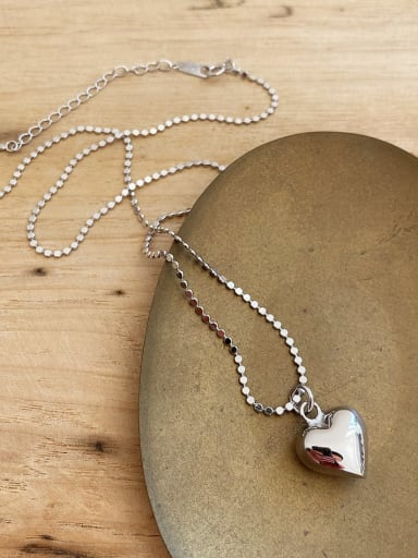 925 Sterling Silver Heart Vintage Necklace