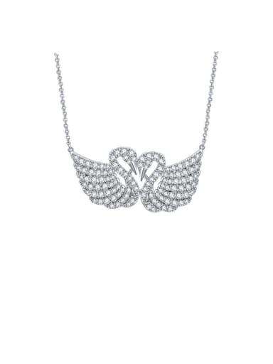 Copper Cubic Zirconia Swan Luxury Necklace