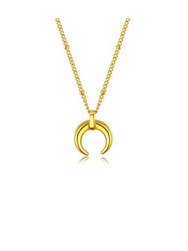 Titanium Irregular Minimalist Smooth Necklaces