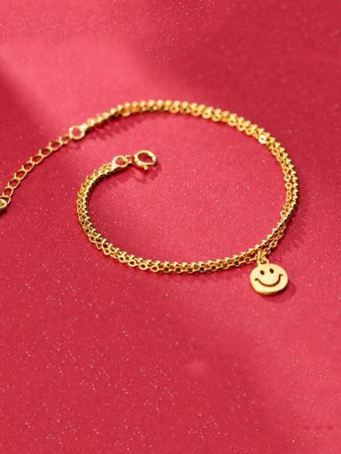 925 sterling silver face minimalist strand bracelet