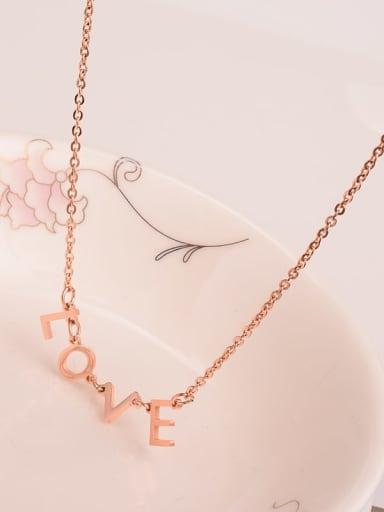 Titanium Letter  LOVE  Minimalist Choker Necklace