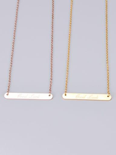 Titanium Simple rectangular pendant  Necklace