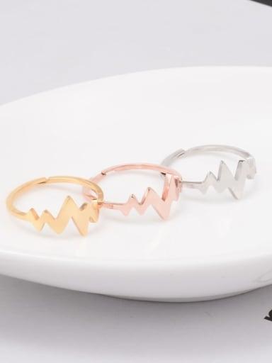 Titanium Irregular Minimalist Midi Ring