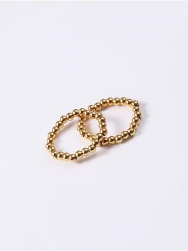 Titanium Round Minimalist Bead Ring