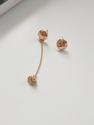 925 Sterling Silver l Minimalist  Asymmetric Bead Stud Earring