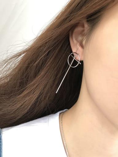 925 Sterling Silver Hollow Geometric Minimalist Threader Earring