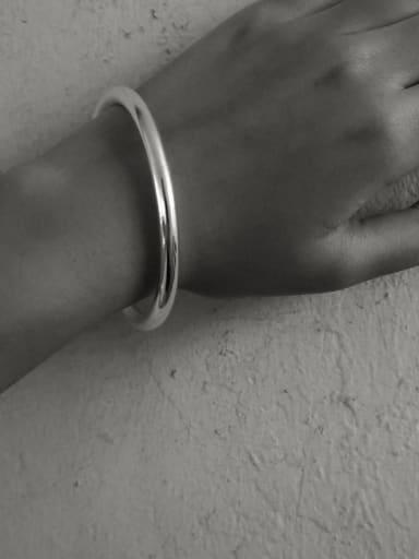 925 Sterling Silver Geometric Minimalist Band Bangle