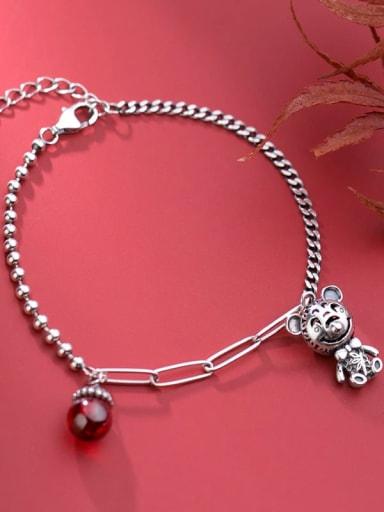 925 Sterling Silver Bell Vintage Charm Bracelet