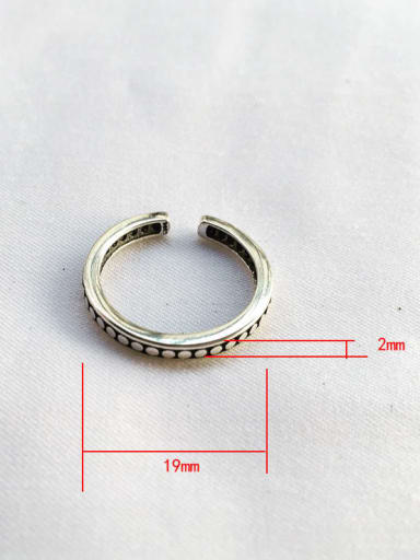J32 925 Sterling Silver Geometric flower Vintage Stackable Ring