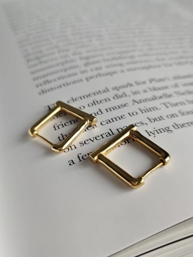925 Sterling Silver Square Minimalist Stud Earring