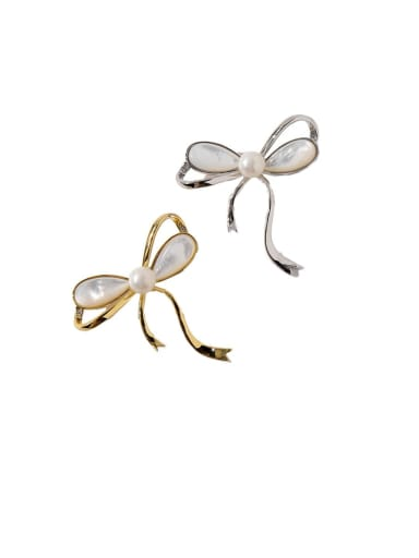 Copper Shell White Butterfly Trend Brooches