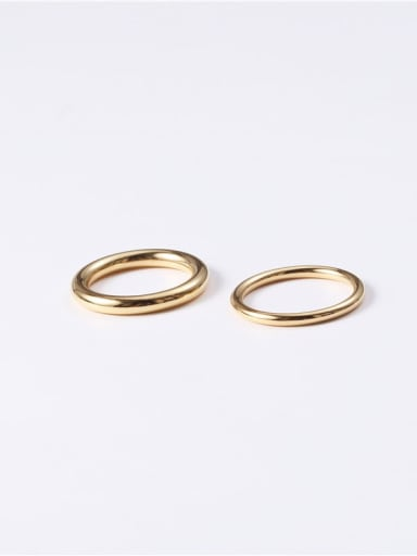 Titanium Smooth  Round Minimalist Midi Ring