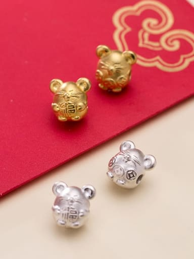 999 Fine Silver With  Cute Mouse Beads  Diy Accessories