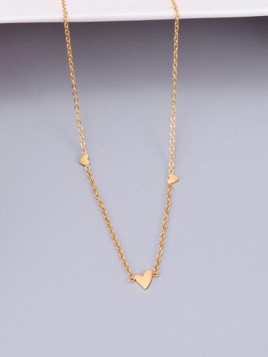 Golden Titanium Smooth Triangle  Necklace