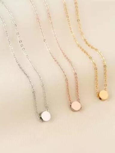 Titanium Smooth  Round Minimalist Choker Necklace