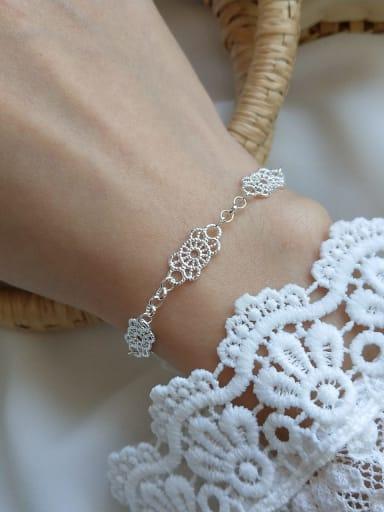 925 Sterling Silver Trend Lace Link Bracelet