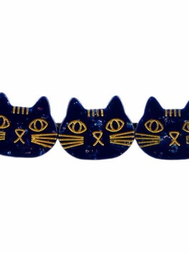 blue Cellulose Acetate Cute Cat Hair Barrette