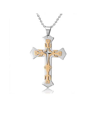 Titanium Cross Minimalist Regligious Necklace