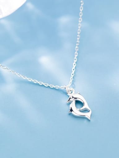 925 Sterling Silver Dolphin Minimalist Necklace