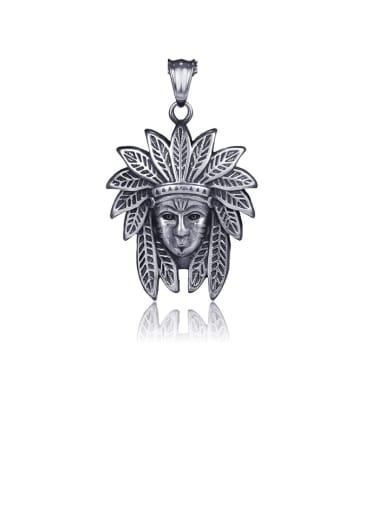 Titanium Vintage Indian head pendant