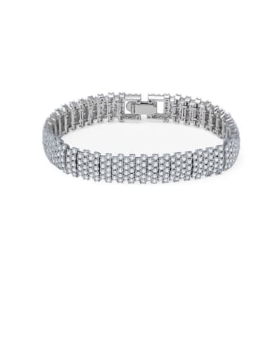 Copper Cubic Zirconia  Geometric Classic Bracelet