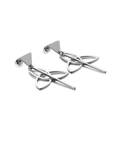 Stainless Steel Hollow Triangle Minimalist Drop Earring