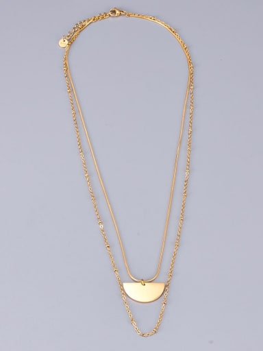 Titanium Tassel Minimalist Multi Strand Necklace