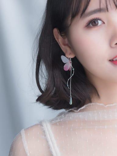 925 Sterling Silver Butterfly Cute Hook Earring