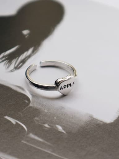 925 Sterling Silver Letter Minimalist Freee Size Midi Ring